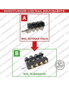 INJBAGI001N Rail Iniettori Equivalenti Autogas Italia