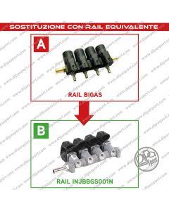 INJBBGS001N Rail Iniettori Gas Equivalenti Bigas
