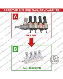 INJBBRC1N Rail Iniettori Gas Nuovi Equivalenti Brc