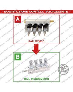 INJBDYM001N Rail Iniettori Gas Equivalenti Dymco