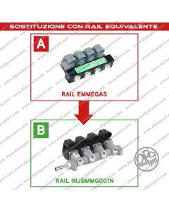 INJBMMG001N Rail Iniettori Gas Equivalenti Emmegas