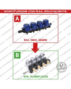 INJBMVL002N Rail Iniettori Equivalenti Omlv Gemini