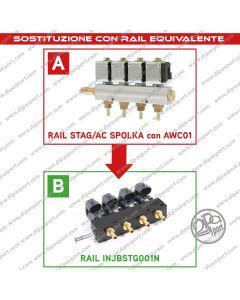 INJBSTG001N Rail Iniettori Gas Equiv. Stag/Ac Spolka