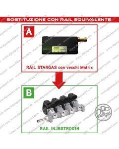 INJBSTR001N Rail Iniettori Equivalenti Stargas Matrix