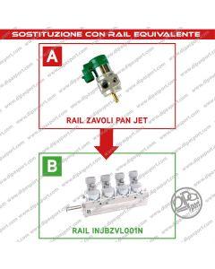 INJBZVL001N Rail Iniettori Gas Equivalenti Zavoli