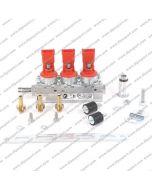 INJB010X3RUN Rail Gpl/Metano Vercesi Nero 3 Cilindri